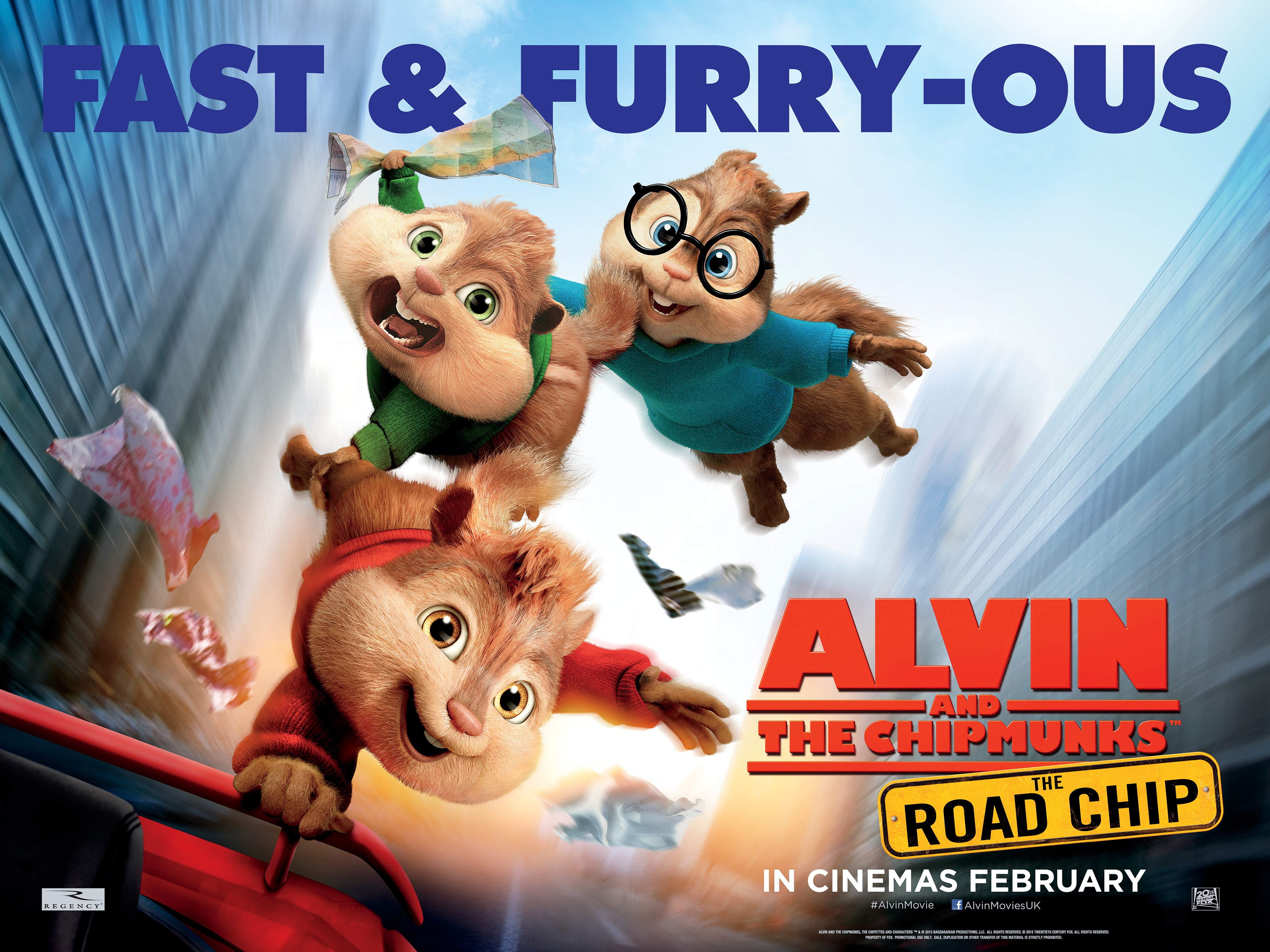 alvin and the chipmunks the road chip movie in uk
